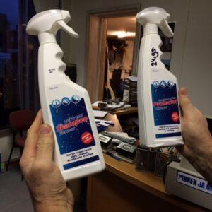 Schoonmaak shampoo en impregneer